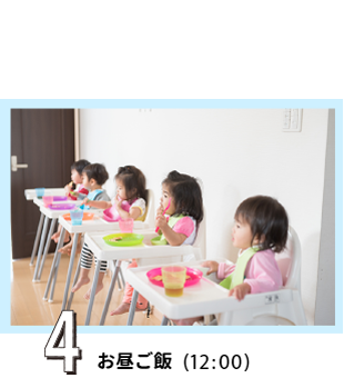 4 お昼ご飯(12:00)